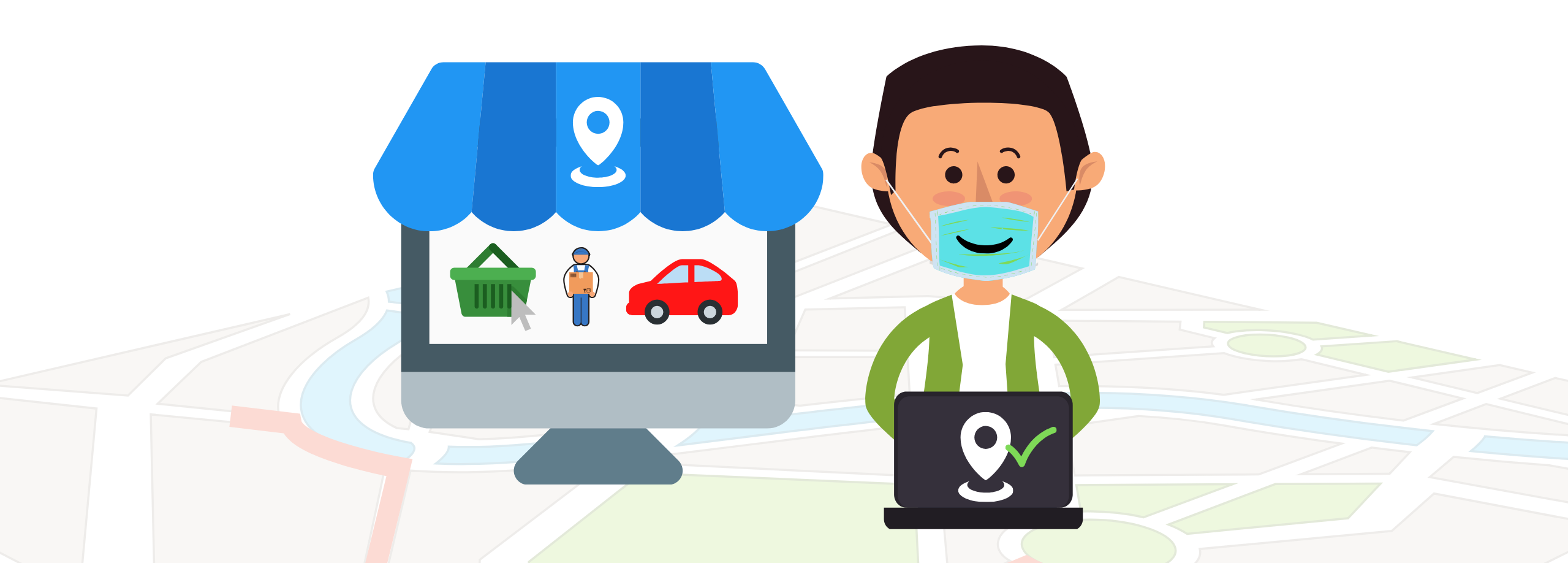 Geolocation boosts retail in pandemic times. The move to the Low touch economy